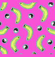 pink seamless banana pattern vector image
