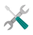 screwdriver and wrench icon vector image