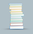 Stack of academic books Academic books vector image