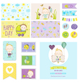 Baby Shower Little Boy Set - for Party Decoration vector image vector image