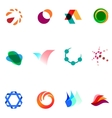 12 colorful symbols set 26 vector image