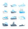 marine traffic icons - marine series vector image vector image