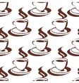 Seamless pattern of a steaming cup of coffee vector image