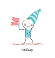 holiday with flags vector image vector image