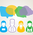 People Chat vector image vector image