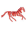 Abstract isolated red horse vector image vector image