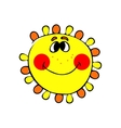 smilling sun vector image