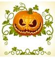 pumpkin jack vintage pattern vector image