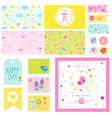 Baby Shower Little Girl Set - for Party vector image