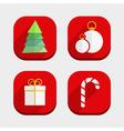 Flat Christmas Icons vector image