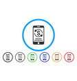 mobile payment rounded icon vector image