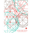 Simple background poster with abstract geometric vector image
