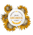 sunflower oil emblem vector image