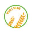 whole grain logo template icon design vector image