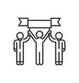 winner teampersonal achievementmission vector image