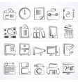 Business and office supplies icons vector image vector image