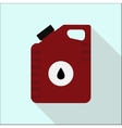 Icon cans of engine oil Service concept Flat vector image