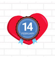 14 february happy valentines day concept logo vector image