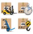 Shipment Icons Set 12 vector image