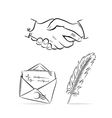Communication set vector image vector image