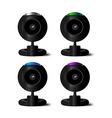 web-camera 4 colors vector image