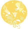 fairy little girl silhouette vector image vector image
