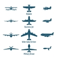 Different airplanes types vector image