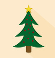 an isolated green christmas tree with a star for c vector image