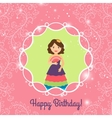 Beautiful princess with lights vector image