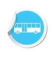 bus icon round blue vector image