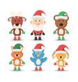 christmas pets design vector image