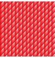 Geometric rhombus grid background white and red vector image