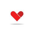 Heart graphic love shape mockup logo vector image