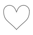 heart shape icon vector image