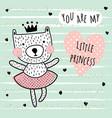 little princess card vector image