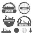 Set of badge labels or emblem elements for vector image