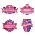 set of logo pink retro labels and vintage vector image