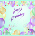 happy birthday design for greeting cards vector image