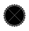 black label frame decoration sign icon vector image