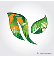 Minimal style Ecology Concept leaf vector image
