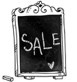 Sale announcement on a chalkboard vector image