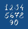 Handwritten numbers modern numbers set vector image vector image