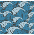 Seamless pattern with sea waves vector image