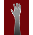 perforated metal hand vector image vector image