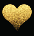 Gold sparkle heart background vector image