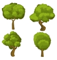 Set of funny cartoon trees vector image vector image