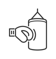 line boxing icon vector image