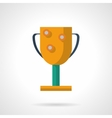 Golden winners cup flat color icon vector image
