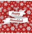 Happy Hanukkah card with snowflakes vector image