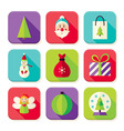 Happy New Year Merry Christmas Square App Icons vector image